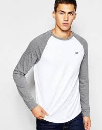 Shop Hollister Raglan Long Sleeve T-Shirt at ASOS. Luxury Fashion, Mens Fashion, Hollister, Fashion Online, Streetwear Brands, Long Sleeve Shirts, Tees, Men's Shirts, Men's Clothing