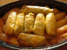 """Ukrainian Cabbage Roll Recipe - Rice Holubtsi: """"Saskatchewan, the province I reside in, has a large Ukrainian population, so that's where this Ukrainian Cabbage Roll Recipe (or """"Rice Holubsti"""") comes from. Ukrainian Recipes, Russian Recipes, Ukrainian Food, Ukrainian Wife, Russian Foods, Rice Recipes, Vegan Recipes, Cooking Recipes, Recipies"""