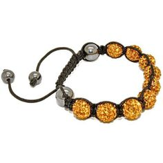 Blue Chip Unlimited - Unisex Yellow 10mm Pave Crystal Bead Shamballa Bracelet Fashion Jewelry Blue Chip Unlimited. $29.95. heavy duty adjustable nylon cord. macrame toggle lock. unisex hip hop bracelet. symbolizes peace, tranquility, happieness & oneness. 10mm pave crystal disco ball beads
