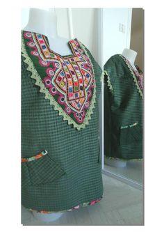 Tunique Gypsy Banjara Kutchi indienne brodée avec miroirs   T-Shirt,  debardeurs par annbcreation 086d3125457