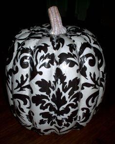 need foam pumpkin, white spray paint, modge podge, tissue paper or napkin