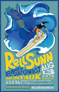 Rell Sunn Surf Contest poster for A Great Montauk event. Graduation Project, Hang Ten, Surf Girls, Graphic Design Inspiration, Travel Inspiration, Picture Wall, Big Picture, Art Auction, Quote Prints