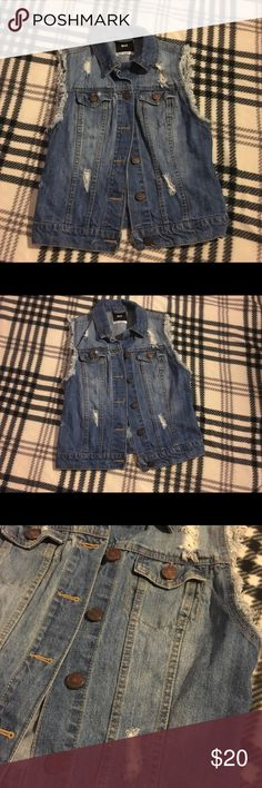 BDG urban outfitters jean distressed vest XS In great condition, no stains or holes with lovely distressed details no pealing Urban Outfitters Jackets & Coats Vests