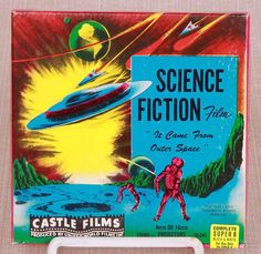 Awesome Vintage Castle Films Super Film Reel containing the Sci-Fi Monster Movie Cult Classic, It Came from Outer Space! It is in fantastic condition and comes with it's original box as you can see. Movie Reels, Film Reels, Sci Fi Films, Horror Films, Super 8 Film, 8mm Film, Best Movie Posters, Sunset Strip, Silent Film