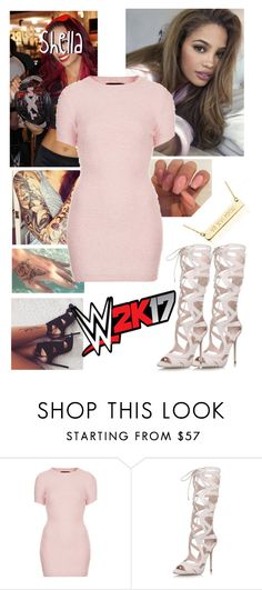 """"""" Shella  WWE 2K17 Launch Party"""" by queenofwrestling ❤ liked on Polyvore featuring Brooks, Motel, Topshop, WWE, launchparty, shellaguerrero and wwe2K17"""