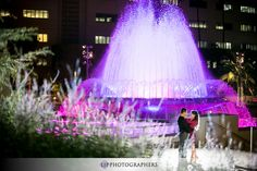 Downtown Los Angeles engagement photos at Grand Park
