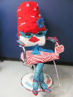 "A decorated ""hon"" chair."