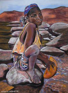 MAMBO, la solitude et l'abandon Pastel sec sur papier abrasif 50 x 70 cm http://www.artmajeur.com/catherinewernette/