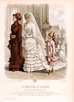 Wedding gown. Fashion plate 1883