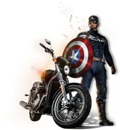 Win a Captain America-Themed Harley-Davidson Street 750 Motorcycle - #harleydavidsonstreet750
