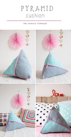 NEW PRODUCTS: *pyramid* cushion and *mots au crochet*