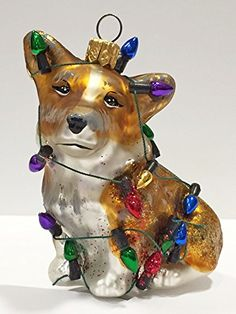 welsh corgi our rescue tails the pet set european blown glass ornament by joy the the world z christmas ornaments pinterest corgi - Corgi Christmas Ornaments