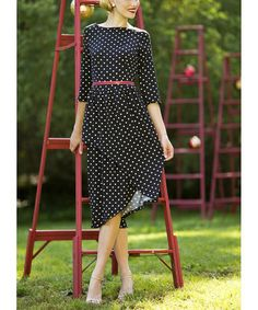 Look what I found on #zulily! Black On the Dot Dress #zulilyfinds