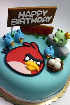 Angry Birds Inspired Cake                                                       …