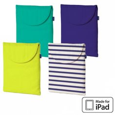 Canvas iPad Cases- for when I have an iPad