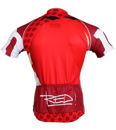 Men's Red M&Ms Cycling Jersey Back View - Free Shipping at cyclegarb.com