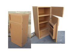 Cardboard Kitchen, Cardboard Box Houses, Diy Cardboard Furniture, Cardboard Box Crafts, Cardboard Toys, Doll Furniture, Baby Play House, Diy Karton, Diy Kids Kitchen