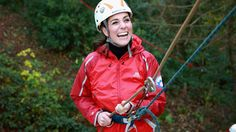 Kate Middleton Can't Stop Smiling As She Rock Climbs With William in North Wales