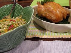 Farro Spring Salad + Simple Roasted Chicken. Easter Brunch http://chefjoannabarajas.blogspot.com/2012/03/simple-roasted-chicken-with-collard.html