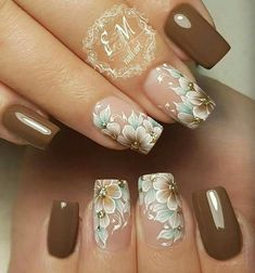 Five Secrets You Will Not Want To Know About Classy Flower Nail Art Classy Flow. - Five Secrets You Will Not Want To Know About Classy Flower Nail Art Classy Flower Nail Art - Beautiful Nail Art, Gorgeous Nails, Pretty Nails, Flower Nail Art, Flower Nail Designs, Nail Art Designs, Classy Nails, Fancy Nails, Hot Nails