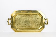 Solid brass tray, Solid brass vanity tray