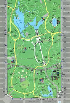Printable Map of Central Park Central Park New York City Map