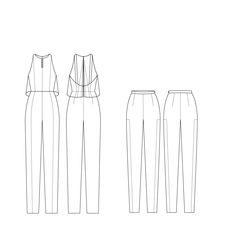 Jumpsuit and trousers I will add the fabrics once I have scanned them, sorry