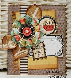 Amazing amazing card made with #Fiskars tools and #GlueArts adhesives. Designed by @Patti Milazzo