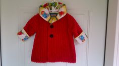 Child's Red Car Coat 6 months C74/15 by zoya49 on Etsy