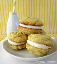 Lemon Cream Pudding Cookies - Crazy for Crust