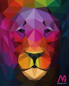 Triangle Lion. Feel the colours.