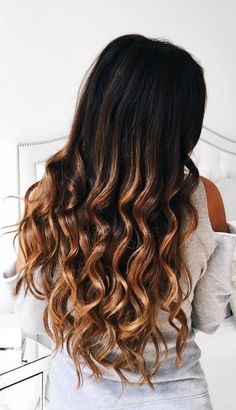 Perfect waves <3 with Ombre Chestnut Luxy Hair extensions on @mimiikonn