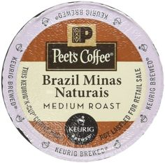 Peet's Coffee Brazil Minas Naturais Blend Single Cup Coffee for Keurig K-Cup Brewers 40 count * Click image for more details.
