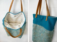 Ledertaschen - Ledertasche /Schultertasche/ Handtasche- Turquoise - ein Designerstück von Coquevama bei DaWanda