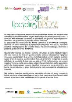 Aperto il bando per: {SCRAPout #2 | l'Expo dell'Upcycling }  che si terrà dal 21 novembre al 12 dicembre 2014 a #Padova  #makers #artigiani #recycling #upcycling
