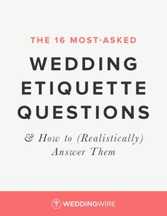 Find out the 16 most-asked wedding etiquette questions and how to answer them on Wedding Invitation Etiquette, Wedding Etiquette, Wedding Invitations, Post Wedding, Wedding Day, Wedding Stuff, Dream Wedding, Etiquette Classes, Wedding Photography List