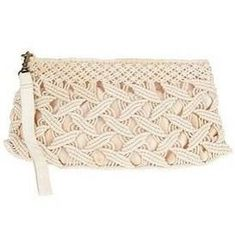 macrame  clutch purse #Crochet bag #@Af's 22/4/13