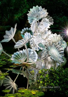 Glass sculptures by Dale Chihuly at the Dallas Arboretum | Flickr - Photo Sharing!