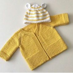 Knitting Pattern for Garter Stitch Baby JacketBaby cardigan knit in garter stitch with options for knit edging or crochet edging. Sizes0 – 3 months and 3 – 6 months. Worsted weight yarn