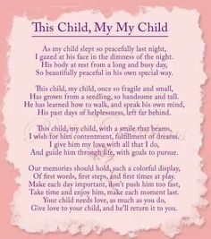 Poem to your child
