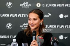 Alicia Vikander speaks at the 'Euphoria' press conference during the 13th Zurich Film Festival on September 29, 2017 in Zurich, Switzerland. The Zurich Film Festival 2017 will take place from September 28 until October 8.