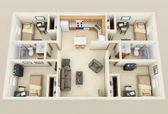 4 rooms idea :)