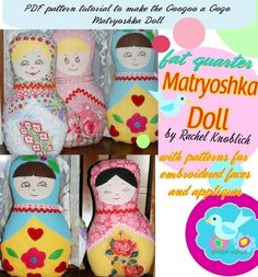 Make a special gift for an adopting familiy. Fat Quarter Matryoshka Doll pattern #adoption #gift www.adoptlanguage.com