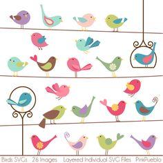 Birds SVG Cutting Templates • TulipWorks