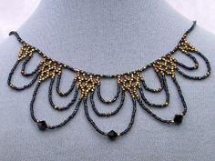 Lace Beadwoven Necklace  - via @Craftsy