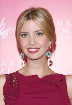 Ivanka Trump Hair-I like how her hair is pulled up, but looks like it is down in the front.