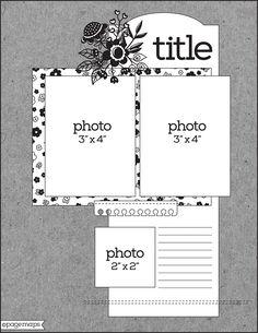 May 2018 sketch Scrapbook Patterns, Scrapbook Layout Sketches, Scrapbook Templates, Card Sketches, Scrapbooking Layouts, Wedding Scrapbook, Baby Scrapbook, Scrapbook Albums, Scrapbook Cards