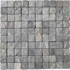 Mosaïque en pierre naturelle, gris, 30.0x30.0cm Paving Texture, Wood Floor Texture, Tiles Texture, Stone Texture, Floor Patterns, Textures Patterns, Textured Walls, Textured Background, Road Texture
