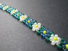 Beaded Potawatomi Daisy Chain #seed #bead #tutorial