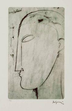 Amedeo Modigliani (Italian, 1884-1920) Male Figure (Figura maschile), N/D